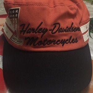 Harley-Davidson #1 Colorblock Flat Top Cap,Vintage